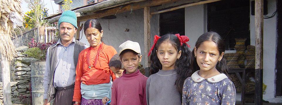 Page des projets d'Enfants du Monde au Népal