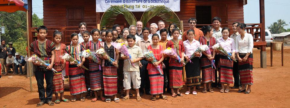 Page des projets d'Enfants du Monde au Laos