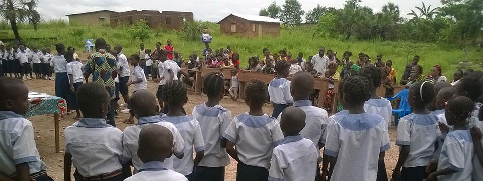 Page des projets d'Enfants du Monde au Congo