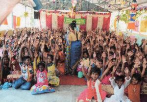 Les enfants de la région de Madurai en Inde, parrainés par le Pache Trust
