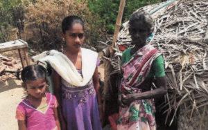 Une famille de la région de Madurai en Inde