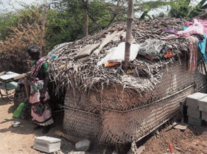 Habitation des familles parrainées par le Pache Trust dans la région de Madurai en Inde