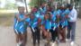 """L'équipe """"pépinières"""" des volleyeuses de moins de 18 ans, encadrées par 2 ex enfants de la rue, animateurs chez EAJD"""