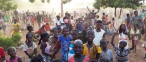 Groupe d'enfants du Burkina Faso